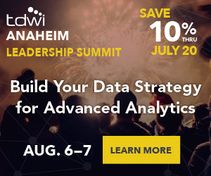 TDWI Anaheim 2018 Leadership Summit