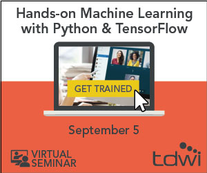 TDWI Hands On Python & Tensor Flow Virtual Seminar