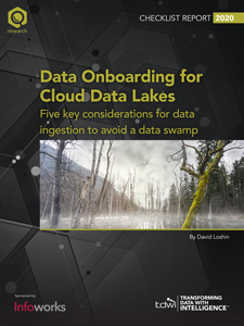 TDWI Checklist Report Data Onboarding for Cloud Data Lakes