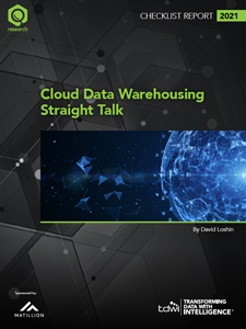 TDWI Checklist Report | Cloud Data Warehousing Straight Talk